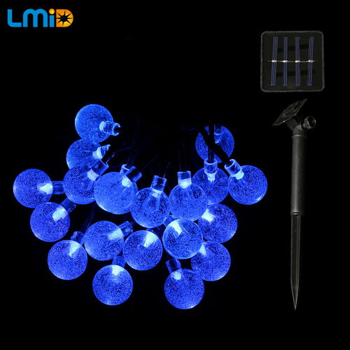 Waterproof Solar Light Crystal Ball String Lights
