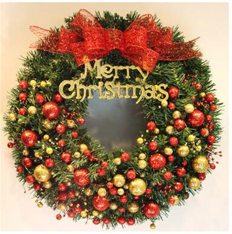 40cm Christmas Wreath with multiple ornaments
