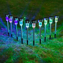 Waterproof 10 PCs LED Outdoor Garden Light RGB White Solar Powered Landscape Decoration