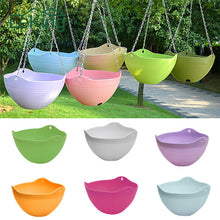 Plastic Hanging Basket Plant Pot with Chain For Houseplants Garden and Balcony Decoration