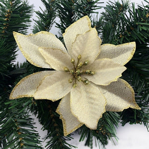 Merry Christmas 8pcs  Artificial Flower Ornaments for Home Tree Decorations