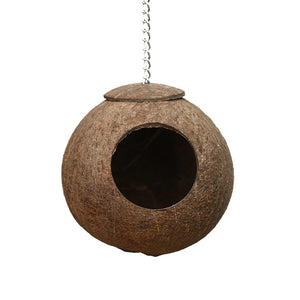 Natural Coconut Shell Bird Nest House Hut