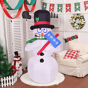 Giant Inflatable Jitter Snowman Blow Up Decoration Props