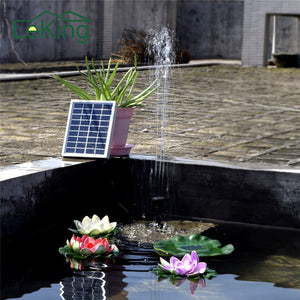 Solar Powered Water Pump Silicon Brushless Water Cycle Pond For Garden Decoration