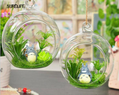 10pcs Clear Round Hanging Glass Bottle Terrarium Containers