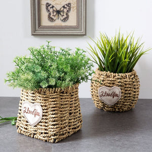 Handmade Seagrass Flower Pot Planter