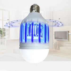 LED Bulb 15W Anti-Mosquito Insect Zapper Flying Moths Killer Light lamp