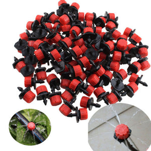 "100pcs 1/4"" barb Adjustable Micro Drip Irrigation System"