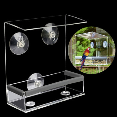 Clear Window Squirrel Proof Bird Feeder