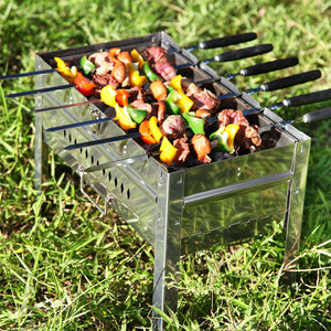 4/6/10/12pcs 21.6'' Wooden Barbecue Shish Kebob Skewers