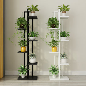 Standing flower shelf,  flower pot shelves with wood for plant display