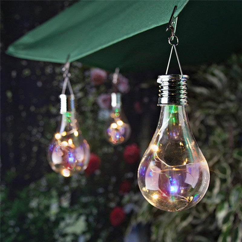 Waterproof Solar Rotatable Outdoor Garden Hanging LED Light Lamp Bulb String Lights