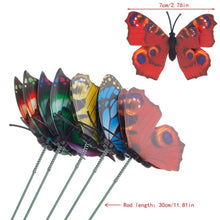 5PCS     Colorful Fairy Butterfly On Stick Ornament Home Garden