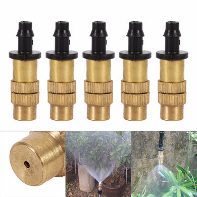 10 piece Adjustable Brass Nozzle Misting Spray Irrigation System