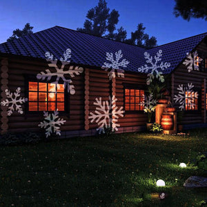 LED Snowflake Laser Projector Lamp Stage Light for Outdoor Garden Christmas Decor