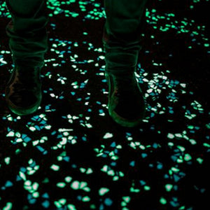 100pcs/bag  Luminous Ornaments Gravel for Walkway  Garden - Glow in the Dark Pebbles Stones