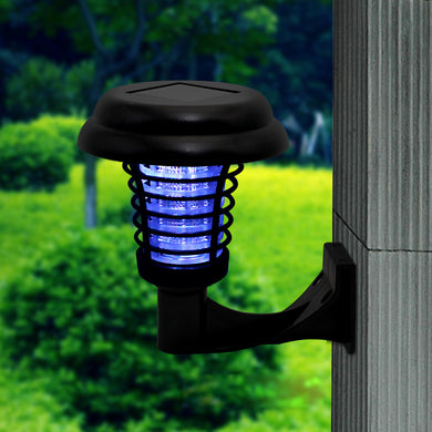 LED Solar Power Mosquito repellent Bug Zapper UV Landscape Light