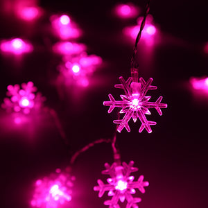40 LED Waterproof Christmas Snowflake String Lights Ornament
