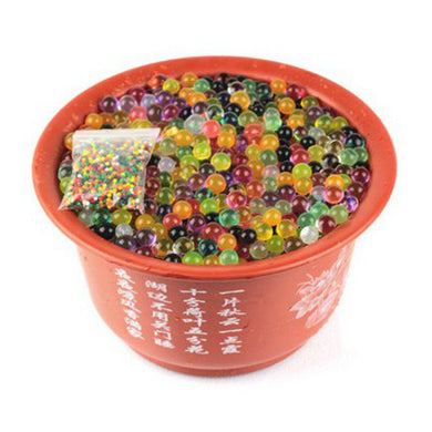 2000pcs multi colors Water Plant Flower Jelly Crystal Soil Mud Water Pearls Soil