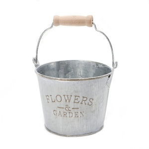 Large/Small Size Vintage Galvanised Metal Iron Flower Garden Planter