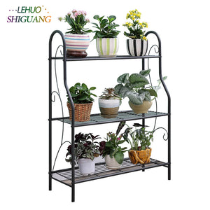 3 layers Outdoor garden Plant Shelves  Flower pot rack- Simple Assembly