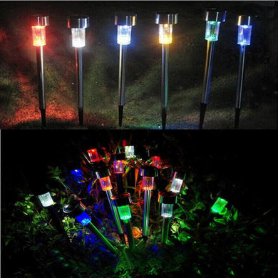 6 LED Solar Power Outdoor Path Light  Yard Garden Lawn Landscape Lovely decoration