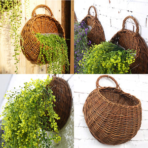 Wall Hanging Flower Plant Basket For Garden Decor
