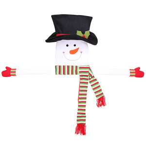 Mr Snowman Christmas Tree Decoration- Snowman Hat Scarf Xmas Christmas Tree Decoration for Home