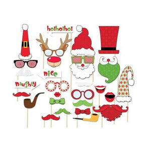 Christmas PhotobProps Fun - Santa Claus Props Christmas Decorations for Home Party Decoration