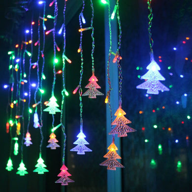 Christmas Garland LED Curtain Icicle String Light 220V 4.5m 100Leds  Garden Outdoor Decorative Light