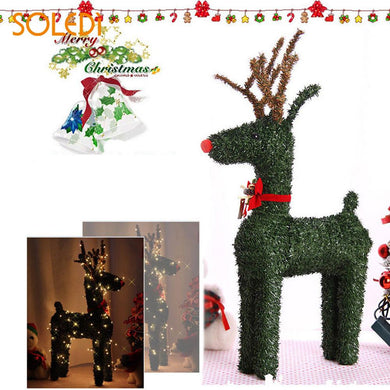 Green with Lights Beautiful Glowing Xmas  Reindeer Decor