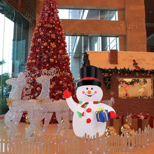 1.2m Christmas Inflatable Snowman  Xmas Decoration for Home - Cute Waving Hand outdoor decoration