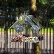 Aviary Transparent Window Bird Feeder For Birds