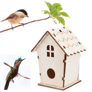 Wooden Bird House Nesting Boxes with Loop for Home Garden Yard Decoration