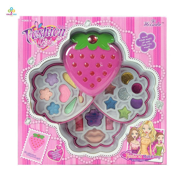 Cosmetics Girls Toys Beauty Dressing Box Children Washable Makeup Set Fashion Girls Make Up Toy -3