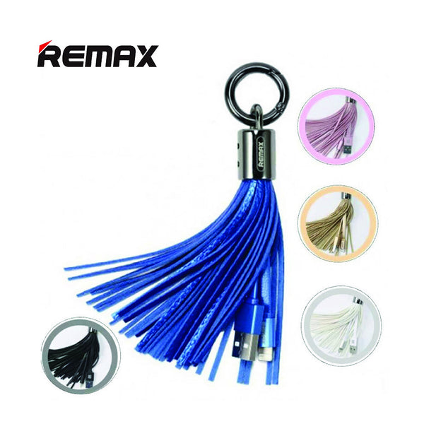 Original Remax Tassels USB Data Cable Charging Cable Ring Charger Cable Transfer 2.1A Fast Charge Line For iPhone Android ss-082