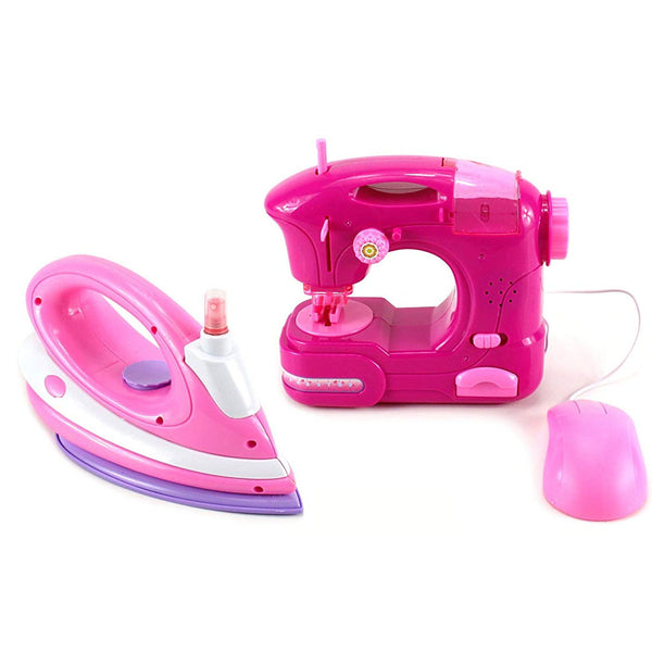 Happy Family Pretend Play Toy Sewing Machine & Iron