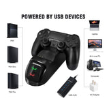 PS4 Controller Joypad Joystick Handle USB Charger Dual USB Fast Charging Dock Station for Playstation 4 PS4 Slim / PS4 Pro
