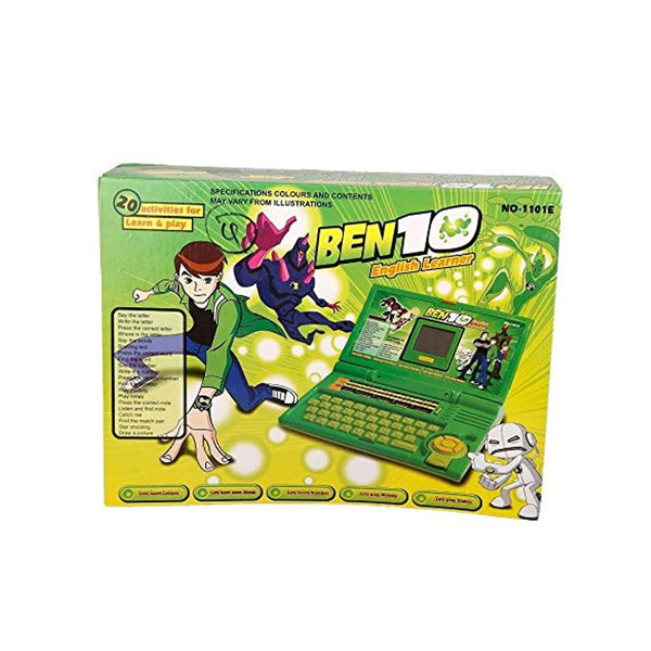 Ben 10 New English 20 Activity Notebook Laptop Toy -Green
