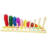 wooden educational toys number recognition plaque of children's