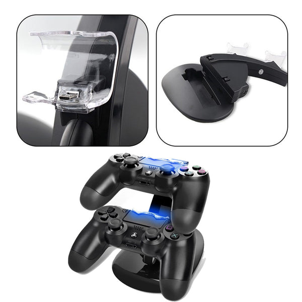 Micro USB Charging Dock for PS4 Double Game Handle Dual Charge Dock Stand for XBOX ONE Controller Gamepad Mount Holder