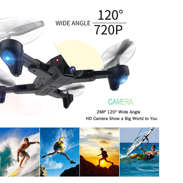 RC Foldable Drone with Wide Angle Camera, ARRIS WiFi FPV 2.4G Quadcopter with 720P 2MP HD Camera Altitude Hold Mode Headless APP Control Pocket RTF Drone