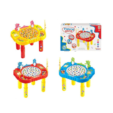 Electric fishing game with 45 pcs fishes fishing game