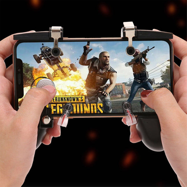 For Android iPhone PUBG Mobile Phones Controller Gaming Trigger Handle Gamepad