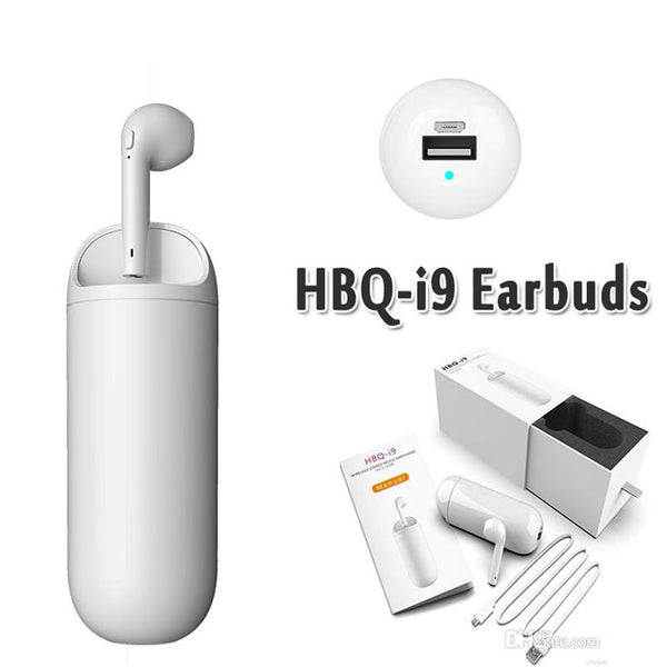 HBQ I9 Wireless Bluetooth Earphone Mini Single Headset For HBQ I9 with 3300mAh Power Charge Phone And Headset Fit Andro