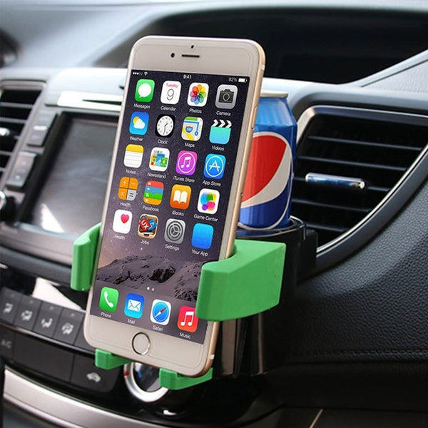Car Drink Cup Holder Auto Adjustable ABS Car Air Vent Phone Mount Cradle Bottle Holder Phone Stand Mobile Width: 5-9cm