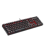 Redragon K551 Mechanical Gaming Keyboard with Cherry MX Blue Switches, Vara, 104 Keys LED Backlit Illuminated Computer Keyboard Metal Construction