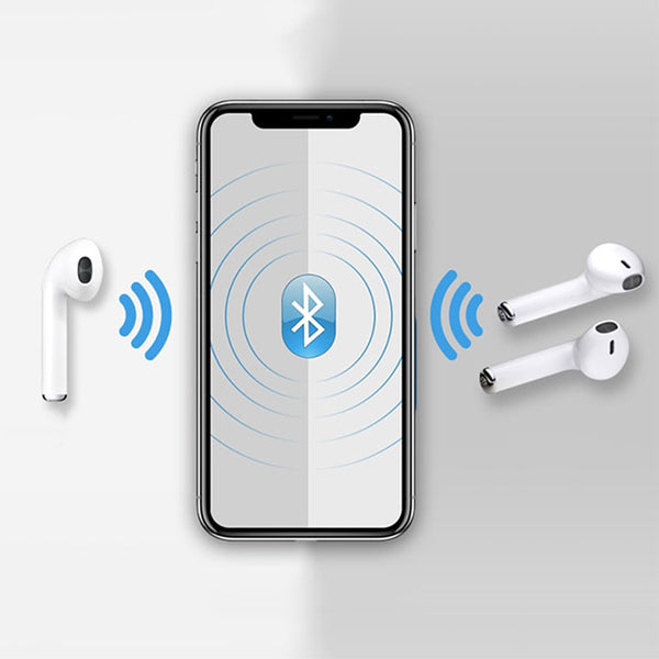 HBQ i7S TWS Wireless Ear Buds with Power Bank - White
