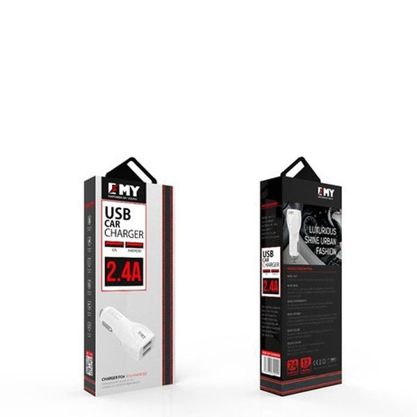 EMY Car Charger 2.4A Dual