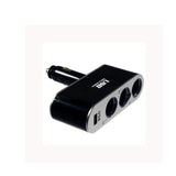 Universal in Car USB Triple Socket Charger - Black